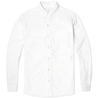 Nanamica Button Down Wind Shirt White Oxford