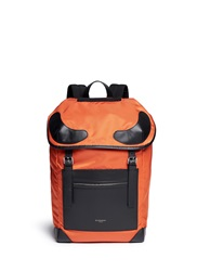 Givenchy Leather Applique Top Nylon Rider Backpack Orange