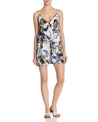 French Connection Kiki Palm Printed Romper Brule Multi