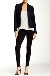 Amanda And Chelsea Solid Ponte Knit Pant Petite Black