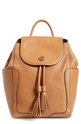 Tory Burch 'Frances' Leather Flap Backpack Brown Bark