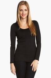 Women's Karen Kane Supersoft Long Sleeve Tee Black