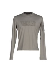 Dekker Topwear T Shirts Men Grey