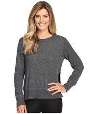 Alo Yoga Glimpse Long Sleeve Top Charcoal Heather Women's Clothing Gray