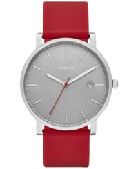 Skagen Men's Hagen Red Silicone Strap Watch 40Mm Skw6338