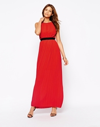 Arrogant Cat Grecian Style Maxi Dress Red