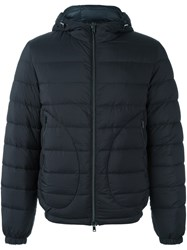 Herno Padded Bomber Jacket Blue