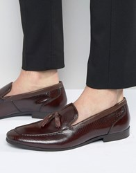 Kg By Kurt Geiger Holman Leather Tassel Loafers Red