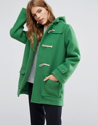Ymc Toggle Hooded Duffle Coat Green