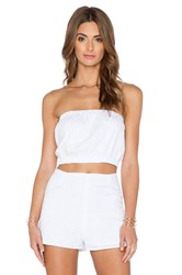 Lucca Couture Tube Crop Top White