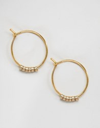Pieces Peru Hoop Earrings Gold