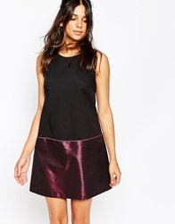 Helene Berman Top Bottom Shift Dress In Pink Metallic Fabric Blackandpink
