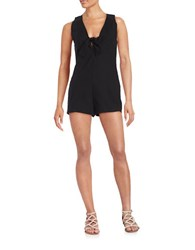 Free People Daisy Cotton Stretch Romper Black
