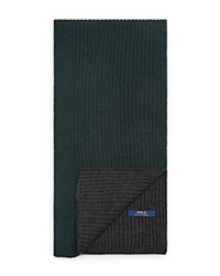 Ralph Lauren Lux Merino Plaited Rib Scarf Hunt Club Green Onyx Heather