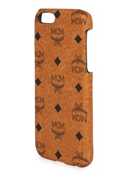 Mcm Brown Monogrammed Leather Iphone 6 Case Tan