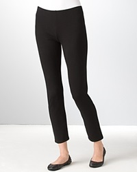 Eileen Fisher Petites' Stretch Organic Cotton Leggings Black
