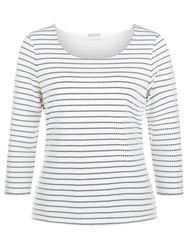 Planet Striped Textured Top Black