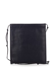 The Row Medicine Pouch Leather Cross Body Bag Navy