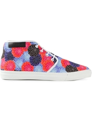 Raf Simons Floral Printed Trainers Blue