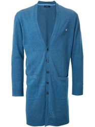 Guild Prime Long Buttoned Cardigan Blue