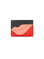 Diane Von Furstenberg Flirty Tuxedo Leather Card Case