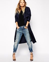 G Star Relaxed Trench Coat Indigo