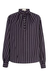 Trademark Hardin Stripe Cotton Shirt Navy