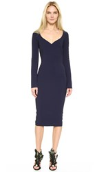 Antonio Berardi Long Sleeve Dress Navy