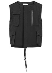 Adyn Military Black Cropped Shell Gilet