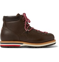 Moncler Peak Full Grain Leather Hiking Boots Brown