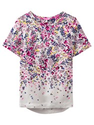 Joules Calla Ditsy Floral Print Top Silver Scatter