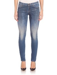 Versace Sequin Skinny Jeans Blue