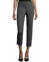 Natori Ponte Mid Rise Cropped Pants Charcoal Grey