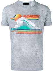 Dsquared2 Summer Print T Shirt Grey