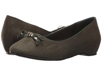 Soft Style Cahill Rosin Faux Suede Rosin Patent Women's Dress Flat Shoes Brown