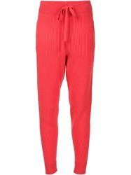Baja East Cashmere Sweatpants Red