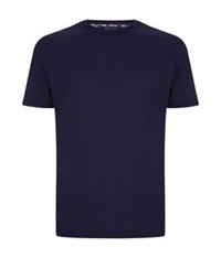 Aquascutum London Check Pocket T Shirt Navy