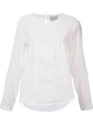 Sea Embroidered Longsleeved Top White