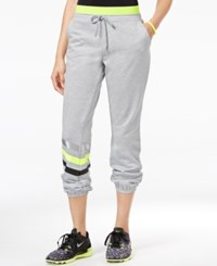 Jessica Simpson The Warm Up Juniors' Logo Jogger Pants Only At Macy's Light Heather Grey