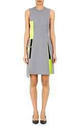 Paco Rabanne Women's Hook And Loop Embellished Shift Dress Green Grey Light Grey Green Grey Light Grey