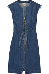 Sea Frayed Denim Dress Indigo