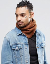 Asos Wool Mix Snood In Tobacco Tobacco Beige