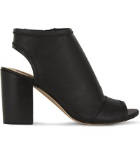 Aldo Barefoot Heeled Ankle Boots Black Synthetic