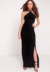 Missguided Slinky Multiway Maxi Dress Black Black