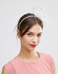 Asos Basic Fascinator Headband Nude Cream