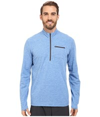 Prana Zylo 1 4 Zip Classic Blue Men's Long Sleeve Pullover
