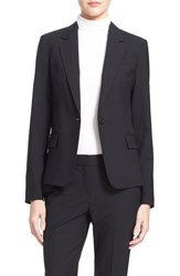 Women's Theory 'Gabe' Stretch Wool Blazer Black