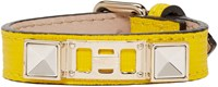 Proenza Schouler Yellow Leather Ps11 Single Wrap Bracelet
