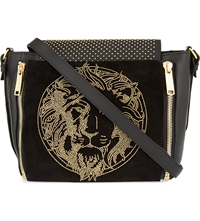 Versus By Versace Studded Cross Body Bag Black Gold