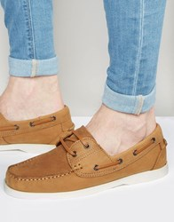 New Look Leather Boat Shoe In Tan Tan